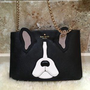 Kate Spade French Bulldog Sima Crossbody/ Clutch